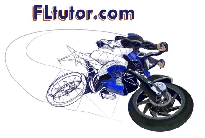Futuristic Motorcycle Concept Art by FLtutor.com